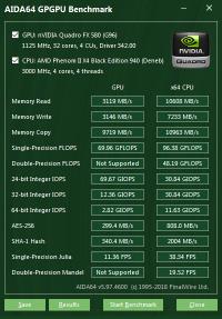 Quadro FX 580 GPGPU
